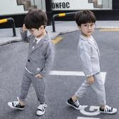 男童禮服英倫風西服寶寶小西裝兒童小孩三件套春秋款男孩花童套裝(快速出貨)