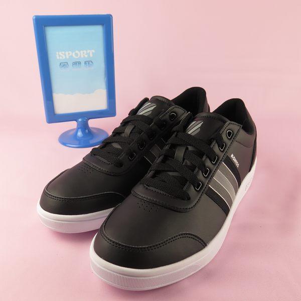 iSport愛運動 K-swiss COURT CLARKSON 運動休閒鞋 正品 06315046 男款 黑底灰條