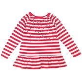 【北投之家】女童長袖上衣 亮片裙擺衣服 紅橫條 | Oshkosh童裝 (兒童/小孩/小朋友/孩童/寶寶)