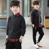 兒童裝男童秋裝毛衣2018新款8中大童9男孩套頭針織衫韓版線衣15歲
