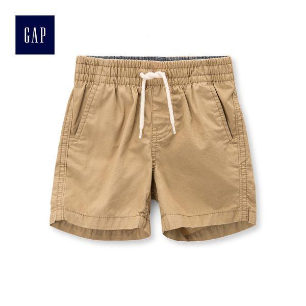 Gap男嬰兒 舒適鬆緊腰卡其短褲 441364-新英格蘭卡其