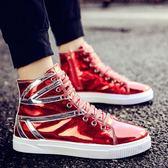 新品-2019夏季新款男鞋社會精神小伙高筒鞋潮男英倫高邦男士韓版馬丁靴 潮人女鞋