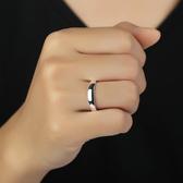 999純銀男士戒指 開口 足銀光圈簡約光面單身尾戒  卡布奇諾