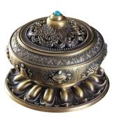 尼泊爾合金銅盤香爐檀香熏香爐八寶