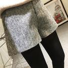 冬季短褲 2019新款顯瘦格子外穿闊腿褲冬季百搭高腰 果寶時尚