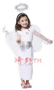 COS萬聖節化裝舞會服裝表演服裝公主裙白色天使服裝