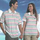 【義大利 SINA COVA】男女運動休閒電腦條紋短POLO衫-紅綠條紋#S811A1-#SW811A1