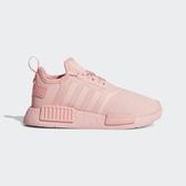 【折後$2799再送贈品】adidas NMD_R1 中童鞋 粉紅 童鞋 粉紅 BOOST底 運動鞋 襪套式 舒適 FX7163