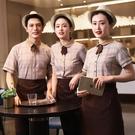 蛋糕店奶茶店服務員工作服女西餐廳餐飲面包房服裝短袖夏裝
