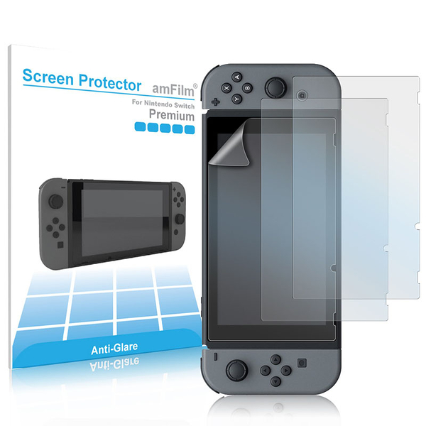 [106美國直購] 任天堂 amFilm (3-Pack) Nintendo Switch Matte Screen Protector 螢幕保護貼 Anti Glare