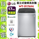 【LG 樂金】DD直立式變頻洗衣機 / 17公斤 WT-D176SG 原廠保固