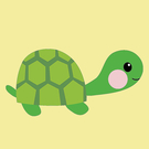 LOVIN 超萌韓版數字油畫動物系列可愛小綠龜(7) 1幅