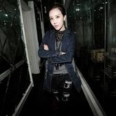 女牛仔外套中長版-歐洲卡通個性單寧夾克72m12【巴黎精品】