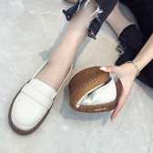 豆豆鞋女春秋白色豆豆平底單鞋防滑牛筋底韓版學生舒適軟底小白鞋 衣間迷你屋