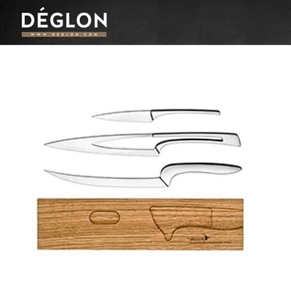 【南紡購物中心】Deglon MEETING 木座料理刀三件組