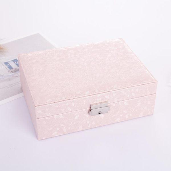 首飾盒簡約 歐式公主韓國手飾品桌面收納盒 帶鎖木質耳環首飾盒子第七公社