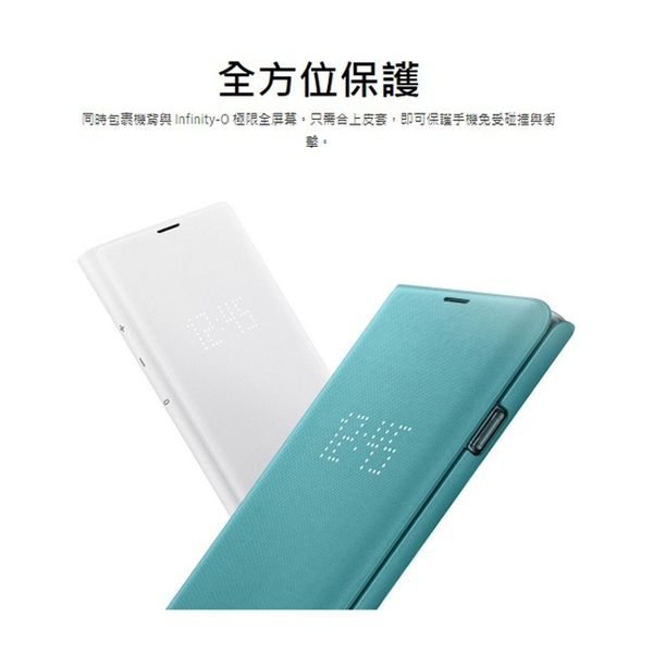 【免運費】【福利品】SAMSUNG Galaxy S10 原廠LED皮革翻頁式皮套-白色