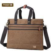 【TROOP】經典品格CLASSIC公事包/TRP0390BN(咖啡色)