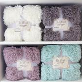 長毛毛絨毯雙層沙發毯蓋毯白色寶寶拍照攝影毯北歐風裝飾毛毯   SMY9124【男人與流行】