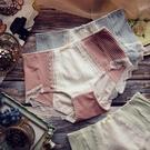 生理褲 生理內褲女舒適透氣螺紋棉防側漏甜美格紋蕾絲中腰大碼姨媽衛生褲-Ballet朵朵