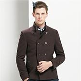 毛呢大衣-秋冬時尚韓版修身短款男外套72e35[巴黎精品】