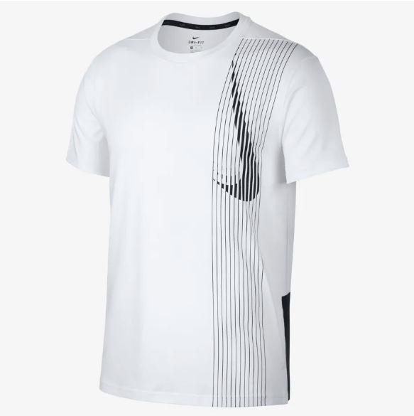 NIKE服飾系列-AS M NK DRY TOP SS LV 男款運動休閒白色上衣-NO.AQ0444100