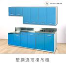 【米朵Miduo】塑鋼流理檯吊櫃 櫥櫃 廚房吊櫃(寬72*深33*高65公分)