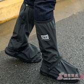 加厚橡膠底耐磨防雨鞋套男女騎行防水防滑雨天防水鞋套雨靴 中元節禮物