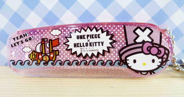 【震撼精品百貨】ONE PIECE&HELLO KITTY 聯名海賊王喬巴&凱蒂貓系列~折梳-海盜船