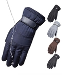 羽絨棉手套男冬季保暖摩托車騎行防水防寒加絨加厚戶外滑雪手套男 ☸mousika