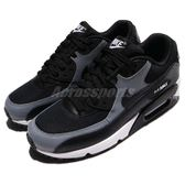 Nike 復古慢跑鞋 Wmns Air Max 90 黑 灰 休閒鞋 百搭款 運動鞋 女鞋【PUMP306】 325213-037