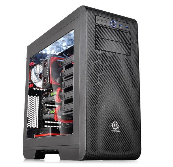【台中平價鋪】全新 Thermaltake 曜越 Core V51 中直立式開窗機殼 黑化機殼