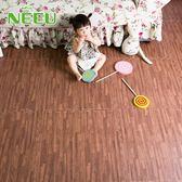 家用仿木紋泡沫拼接地墊臥室兒童拼圖防水隔音地板墊子60x60ATF 美好生活居家館