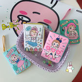 618好康鉅惠韓國可愛卡通少女印花軟妹皮革迷你短款錢包