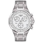 【僾瑪精品】TISSOT天梭 PRX Classic 經典重現三眼計時腕錶-銀/40mm/T0774171103100
