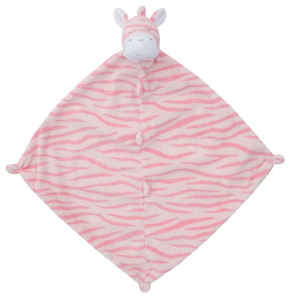 美國Angel Dear 動物嬰兒安撫巾 粉紅斑馬