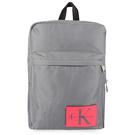 Calvin Klein 經典帆布LOGO後背包(灰色)103336-2