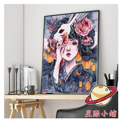 【送外框】diy數字油畫大幅填色畫手繪油彩畫裝飾畫【星際小舖】