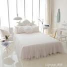 韓式夏天床裙單件白色公主床罩純棉全棉床單裙式三件套定制無床尾 樂活生活館