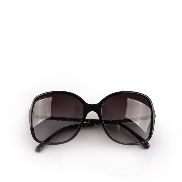 【CHANEL】金屬邊框墨鏡(黑) CH46000021