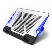 筆記本散熱器15.6寸17寸靜音風冷風扇筆記本散熱底座墊支架散熱器  易貨居