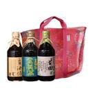 【豆油伯】缸底/甘田(薄鹽)/金美滿(無添加糖) 醬油3入伴手禮,買就送亮粉袋(不挑款)一個