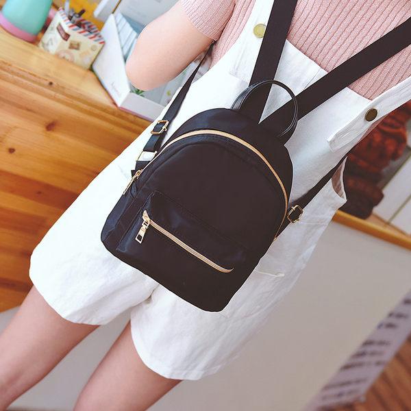 後背包新款韓版潮夏季小背包時尚百搭迷你牛津布尼龍迷彩後背包女包 喵小姐