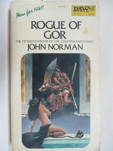 【書寶二手書T1/原文小說_B8A】Rogue of Gor_John Norman