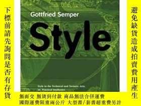 二手書博民逛書店Style罕見in the Technical and Tect
