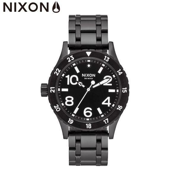 NIXON 手錶 原廠總代理A410-756 38-20  黑色 潮流時尚鋼錶帶 男女 運動 生日情人節禮物
