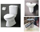 【麗室衛浴】日本INAX 雙體馬桶 AC-504VAN-TW/BW1+抗汙面盆GL-288VFC-TW含短腳+日本軸心單槍面盆龍頭~一套