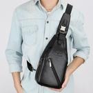 多功能戶外包包 商務肩背包 韓版男士胸包 USB充電胸前斜挎包男 運動胸包斜挎包 男生胸前包包