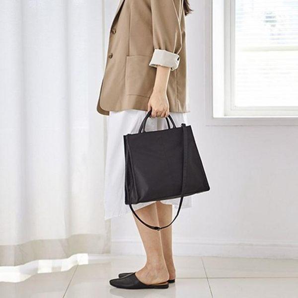 全館83折 日韓OL公文包a4學生書包尼龍防水帆布包大容量單肩手提簡約女包
