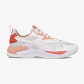 PUMA X-Ray Lite 女款白橘網布運動慢跑鞋 37412214